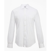 Brooksbrothers Regent Fitted Dress Shirt, Performance Non-Iron with COOLMAX, Ainsley Collar Broadcloth
