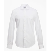 Brooksbrothers Regent Fitted Dress Shirt, Performance Non-Iron with COOLMAX, English Spread Collar Broadcloth