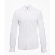 Brooksbrothers Soho Extra-Slim Fit Dress Shirt, Performance Non-Iron with COOLMAX, English Spread Collar Twill