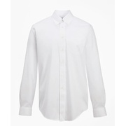 Brooksbrothers Madison Classic-Fit Dress Shirt, Performance Non-Iron with COOLMAX, Button-Down Collar Twill
