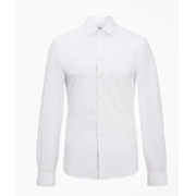 Brooksbrothers Soho Extra-Slim Fit Dress Shirt, Performance Non-Iron with COOLMAX, Ainsley Collar Twill