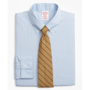Brooksbrothers Stretch Madison Classic-Fit Dress Shirt, Non-Iron Check