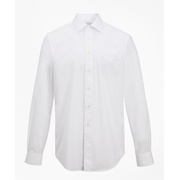 Brooksbrothers Madison Classic-Fit Dress Shirt, Performance Non-Iron with COOLMAX, Ainsley Collar Broadcloth