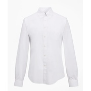 Brooksbrothers Regent Fitted Dress Shirt, Performance Non-Iron with COOLMAX, Button-Down Collar Broadcloth