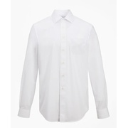 Brooksbrothers Madison Classic-Fit Dress Shirt, Performance Non-Iron with COOLMAX, Ainsley Collar Twill
