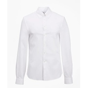 Brooksbrothers Milano Slim Fit Dress Shirt, Performance Non-Iron with COOLMAX, Button-Down Collar Broadcloth