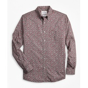 Brooksbrothers Luxury Collection Regent Fitted Sport Shirt, Button-Down Collar Floral Print