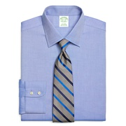 Brooksbrothers Milano Slim-Fit Dress Shirt, Non-Iron Royal Oxford