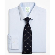 Brooksbrothers Milano Slim-Fit Dress Shirt, Non-Iron Micro-Check
