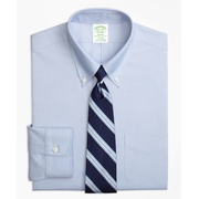 Brooksbrothers Stretch Milano Slim-Fit Dress Shirt, Non-Iron Button-Down Collar