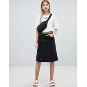 Cheap Monday organic mid length denim skirt with logo tape