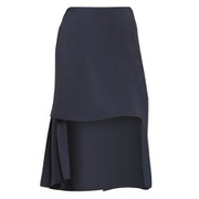 Chloe Crepe de Chine High-Low Pleat Back Skirt