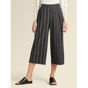 DKNY STRIPED CROPPED PANT