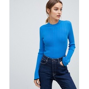 HUGO ribbed knitted top
