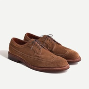 Jcrew Alden longwing bluchers in suede