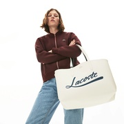 Lacoste Womens Anna Removable Pouch Signature Reversible Tote