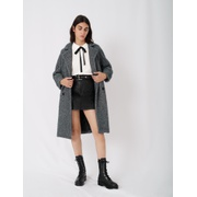 Maje Checked tricotine coat
