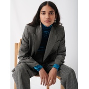 Maje Suit jacket with tennis stripes