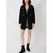 Maje Belted coat in recycled wool