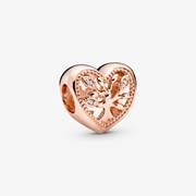 Openwork Family Tree Heart Charm | Rose Gold | Pandora US