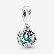 Stork & Twinkling Stars Dangle Charm | Silver | Pandora US