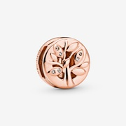Sparkling Family Tree Clip Charm | Rose Gold | Pandora US