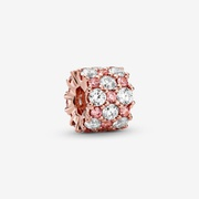 Pink & Clear Sparkle Charm | Rose Gold | Pandora US