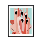 Potterybarn The Flamingos Are Staring Wall Art by Minted