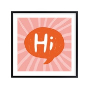 Potterybarn A Bright Hi Wall Art by Minted