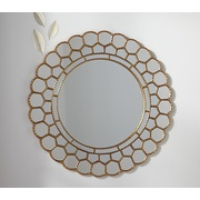 Potterybarn Gold Circle Blossom Mirror