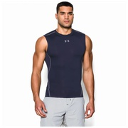 Under Armour HeatGear Armour Compression S/L Shirt - Mens / Midnight Navy/Steel