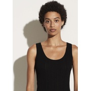 Vince Ribbed Scoop Back Camisole